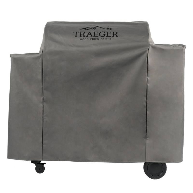 Traeger Pelletgrill Ironwood 885 - Modell 2018 - Auslaufartikel - Set mit Bodenplatte und Abdeckhaube