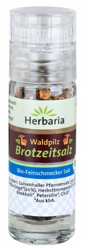 Herbaria BIO Waldpilz Brotzeitsalz - Mini-Mühle 9g