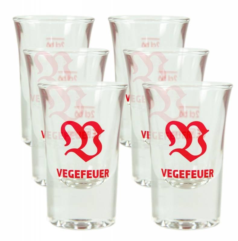 Vegefeuer Gläser 6er Set 0,02L (2cl)