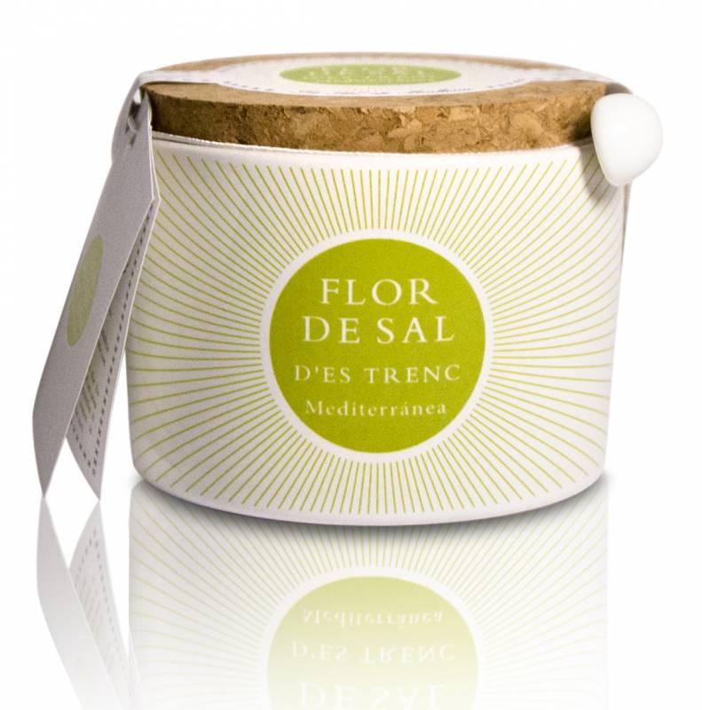 Flor de Sal D Es Trenc Mediterrane Kräuter - Keramikdose 100g
