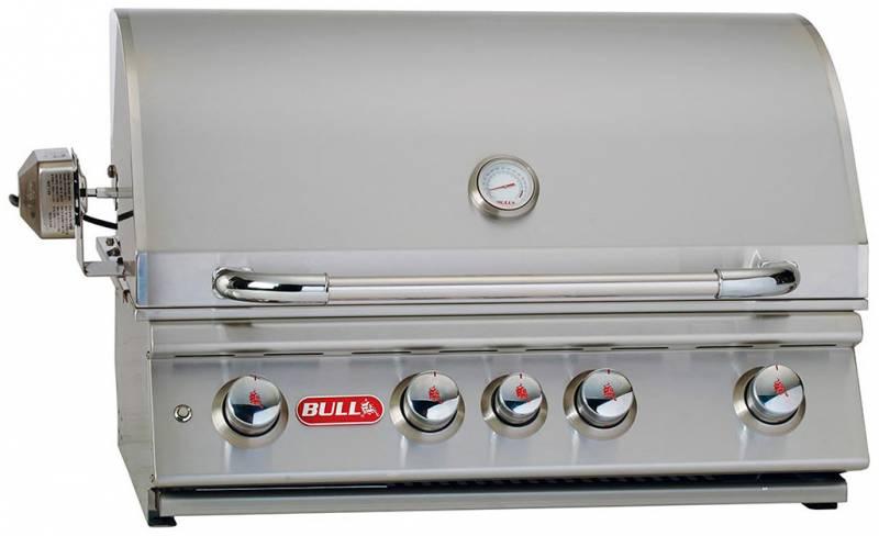 BULL Angus - Built-In Einbaugrill mit Infrarot Backburner und Rotisserie