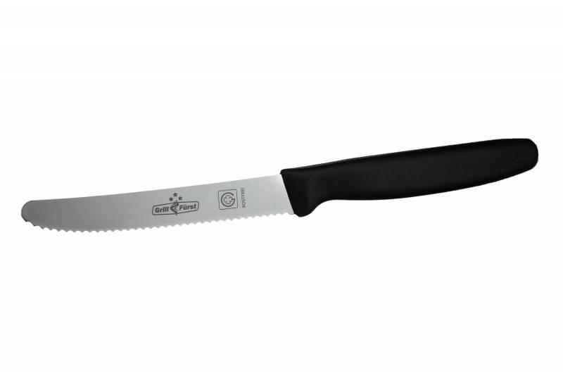 Grillfürst Allzweckmesser mit Wellenschliff, 11 cm Klinge