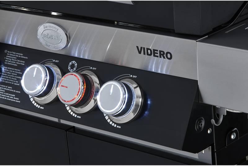 Rösle BBQ-Station Videro G4-S Modell 2019 schwarz mit Abdeckhaube!!!