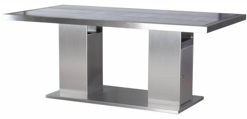 Girse Magic Table groß - mit Gasflaschenvorrichtung - 10 Fliesen Schiefer, schwarz