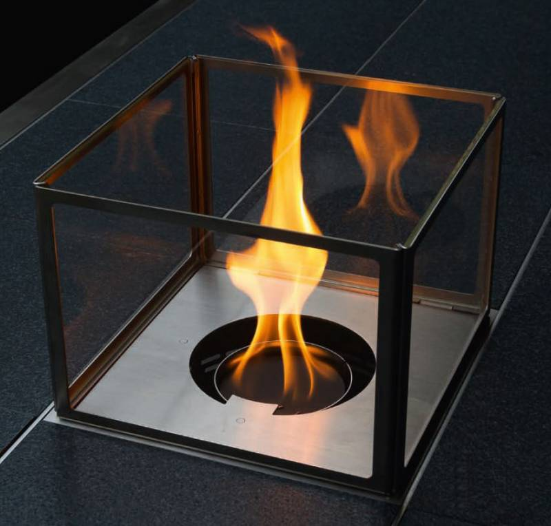 Girse Magic Table Einsatz: Dekofeuer Gas inkl. Glasaufsatz (294x294mm)