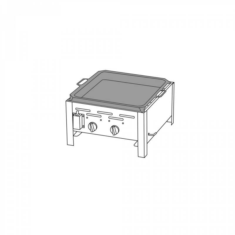 2-Brenner Gastrobräter mit Stahlpfanne