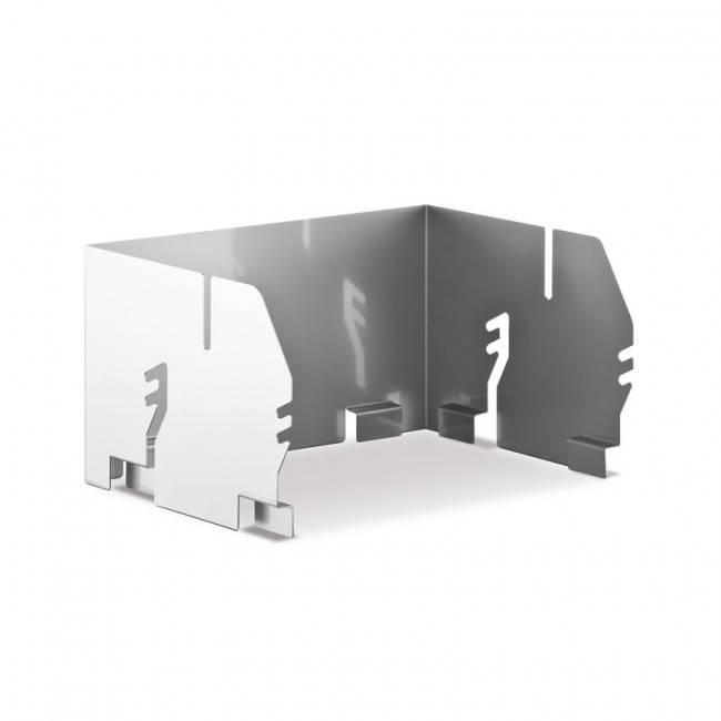 Thüros Zubehör: Windansteckblech für T1, Tischgrill, Minicater (Grillfläche 30x30 cm)