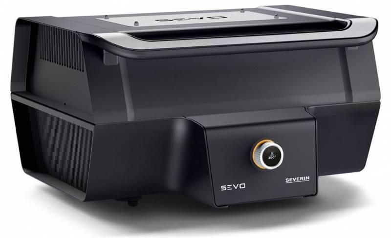 Severin SEVO GT Elektrogrill - Boost Zone 500°C - mit Deckel - 3.000 W
