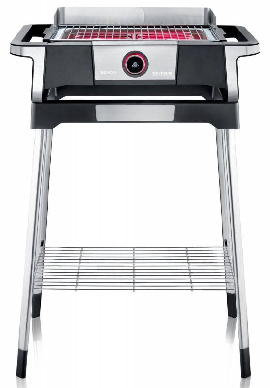 Severin SENOA Digital Boost S Elektrogrill - Boost Zone 500°C - mit Untergestell - 3.000 W
