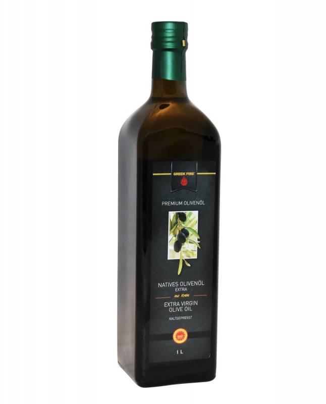 Greek Fire Premium Olivenöl 1 Liter Flasche