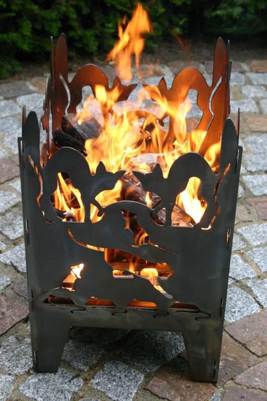 SvenskaV Feuerkorb Katze XXL