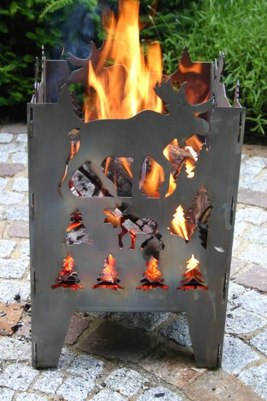 SvenskaV Feuerkorb Elch L