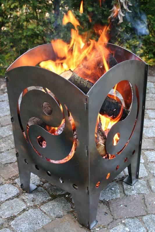 SvenskaV Feuerkorb Yin und Yang L