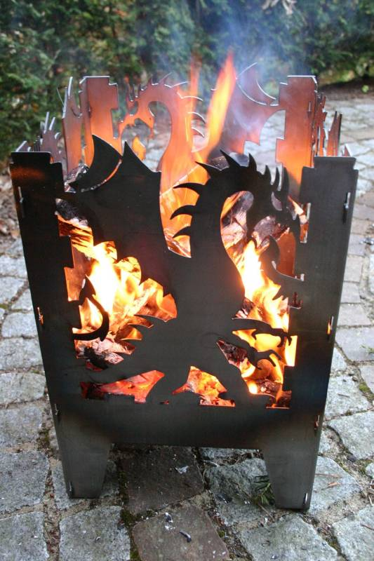 SvenskaV Feuerkorb Drache L