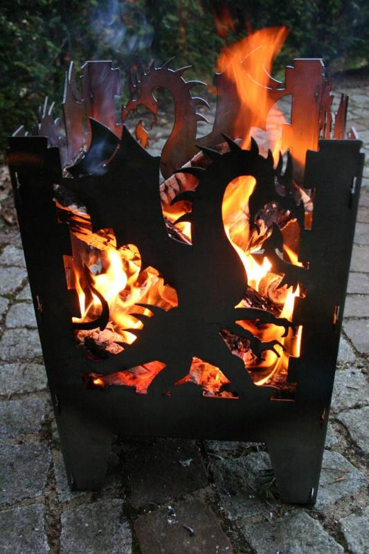SvenskaV Feuerkorb Drache XXL