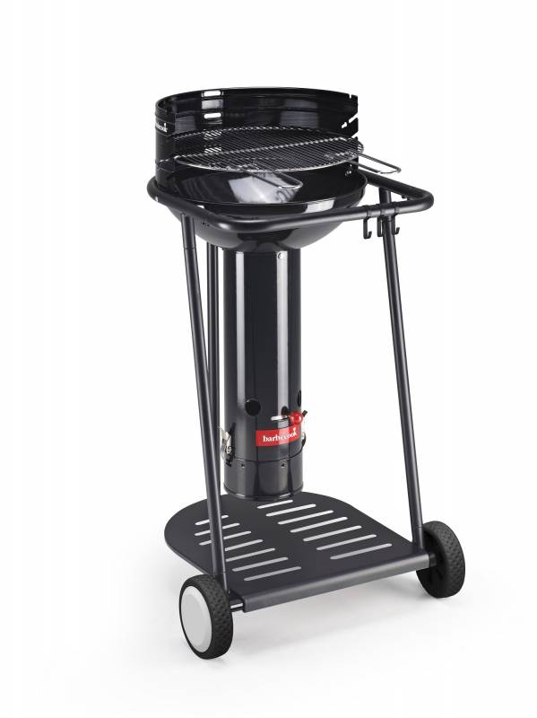 Barbecook Holzkohle Säulengrill: Barbecook Optima Go Black