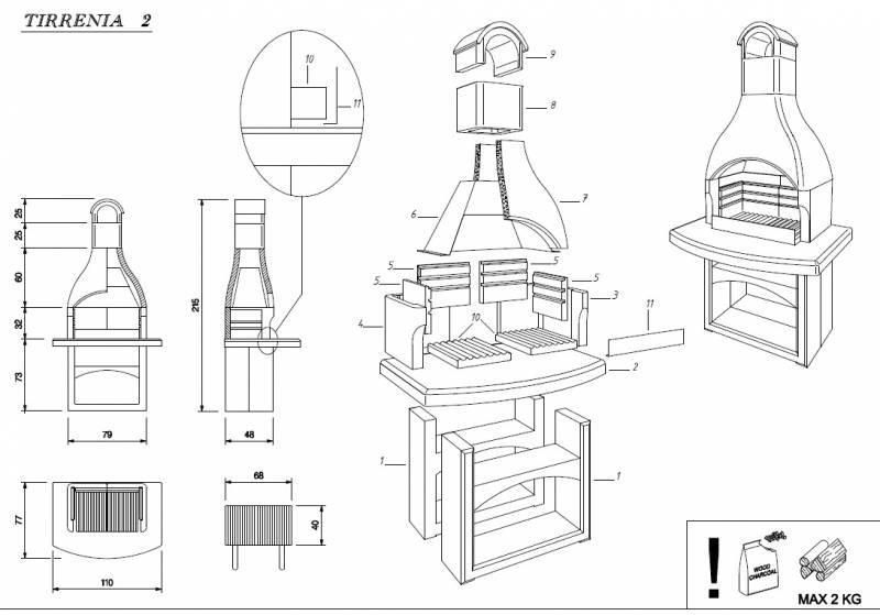 Palazzetti Grillkamin Tirrenia 2 inkl. Montagematerial