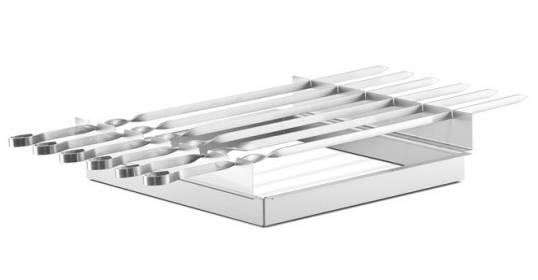 Thüros Zubehör: Schaschlik Spießaufsatz mit 8 Spießen für T2 und Thüros 1 (Grillfläche 35x35 cm)