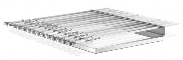 Thüros Zubehör: Schaschlik Spießaufsatz mit 14 Spießen T4, Thüros 2, Sylt (Grillfläche 40x60 cm)