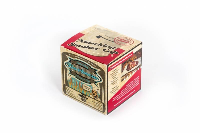 Axtschlag Räucherbox Edelstahl 90 x 80 mm