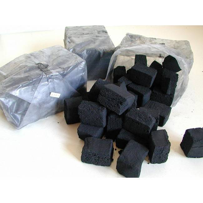 TOM Cococha Rot BBQ Grillbriketts 3kg - 4,0 x 3,0 x 2,5 cm