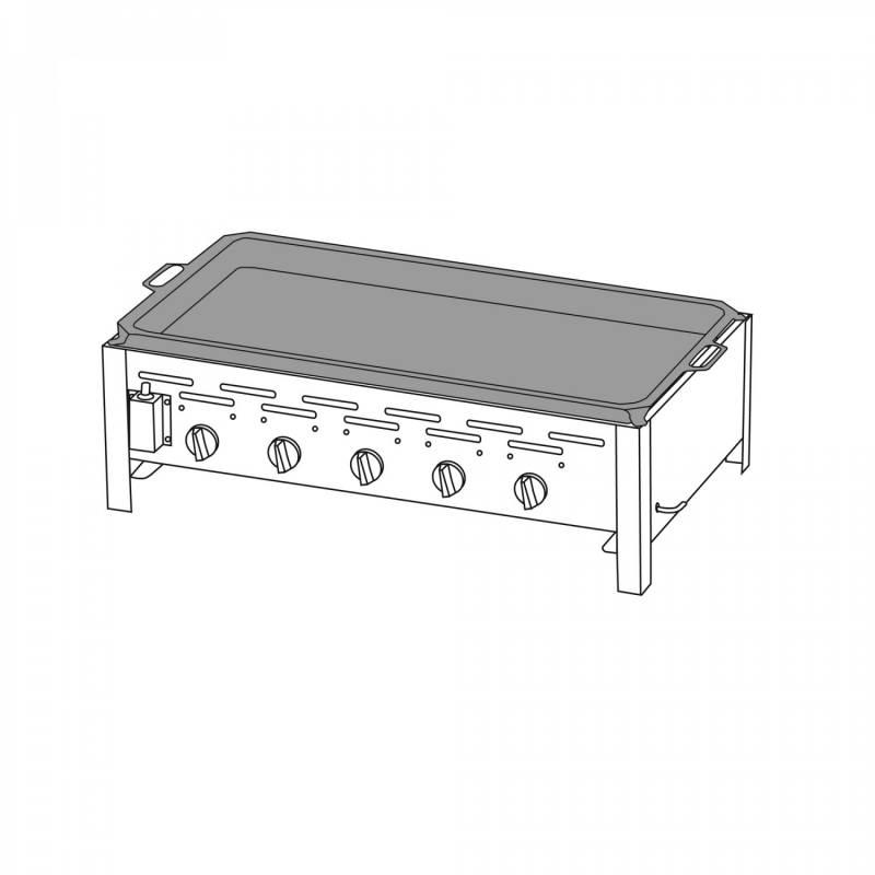 5-Brenner Gastrobräter mit Stahlpfanne
