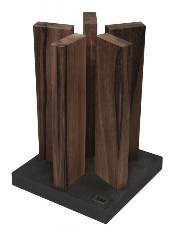 Kai Magnet Messerblock Stonehenge Granit/Walnuss