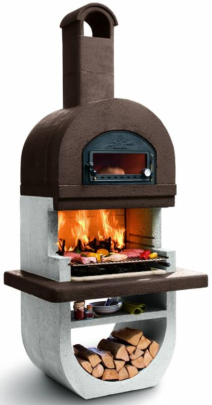 Palazzetti Grillkamin Diva four mit Pizzaofen Backofen inkl. Montagematerial