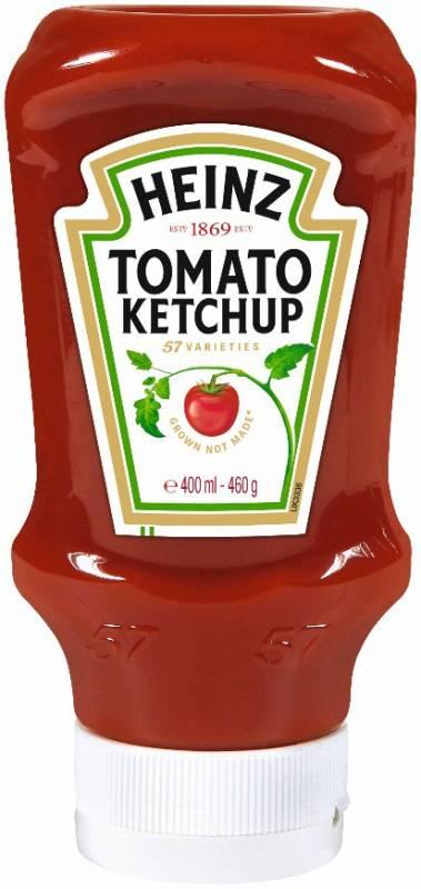 Heinz Tomato Ketchup 400ml Kopfsteher-Squeezeflasche