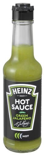Heinz Hot Sauce Green Jalapeno 150ml Glasflasche