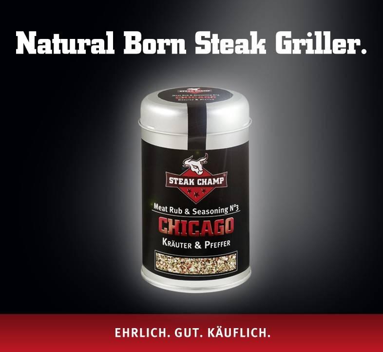 Steak Champ Gewürz-Mischung No.3 Chicago Kräuter & Pfeffer