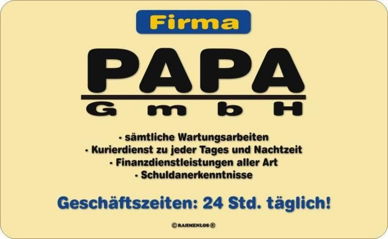 Brettchen: Firma Papa GmbH