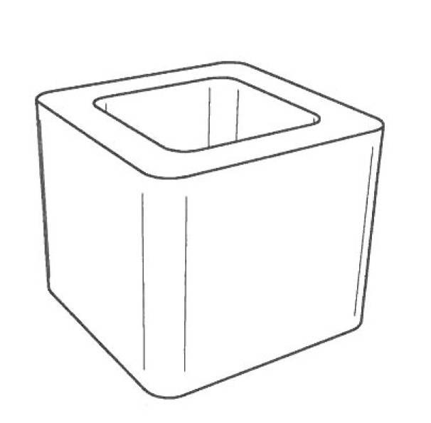 Palazzetti Verlängerungselement für Schornstein, Außenmaß 30 x 30 x 25 cm, 762031650