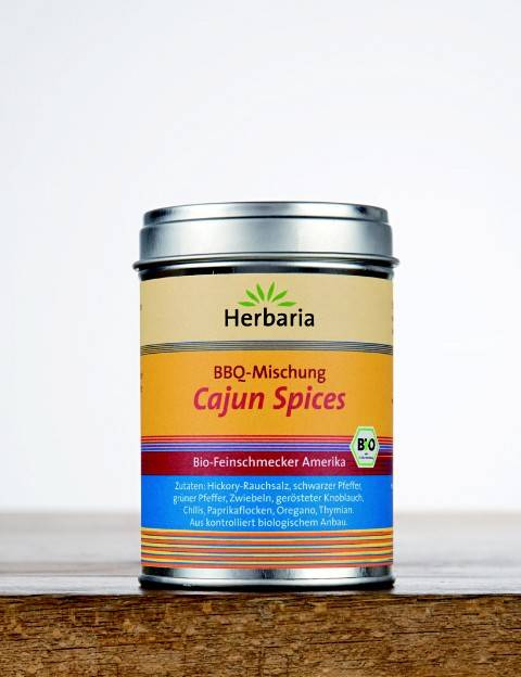 Herbaria BIO Cajun Spices - BBQ-Mischung 80g