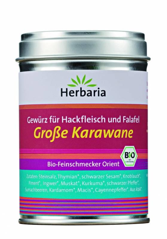 Herbaria BIO Große Karawane - Gewürz für Hackfleisch und Falafel 90g