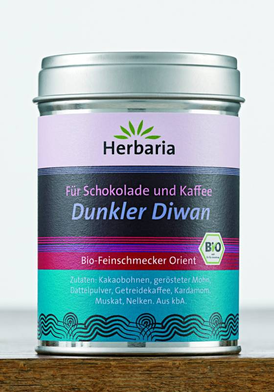 Herbaria BIO Dunkler Diwan - Gewürz für Kaffee und Schokolade 70g