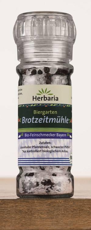 Herbaria BIO Biergarten - Brotzeitmühle - Salz & Pfeffer Mühle 65g