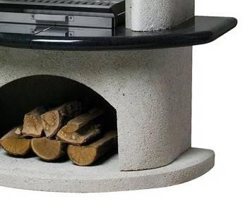 buschbeck grillkamin gartenkamin ambiente wei granit. Black Bedroom Furniture Sets. Home Design Ideas