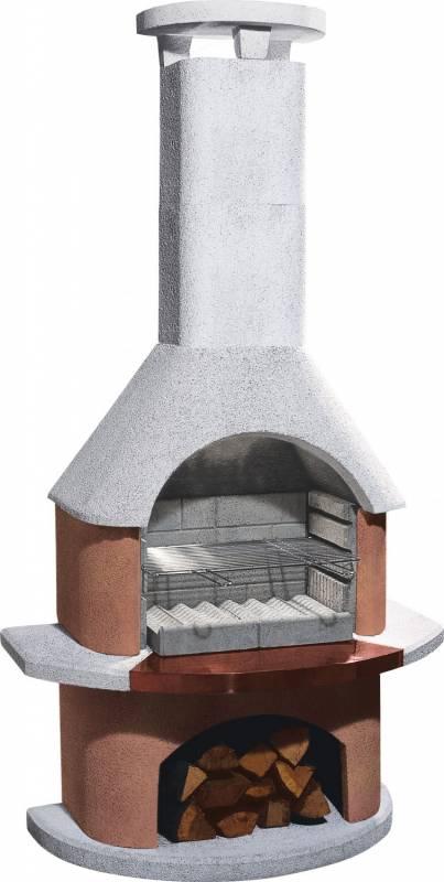 Buschbeck Gartengrillkamin San Remo weiß-terrakotta