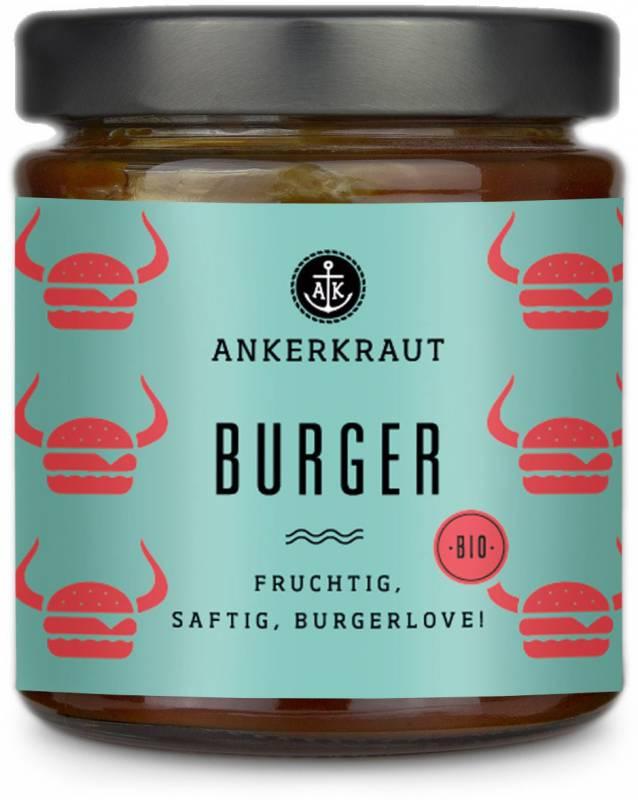 Ankerkraut #Saucenliebe - Burger Sauce - Fruchtig, saftig, Burgerlove, 170 ml Glas
