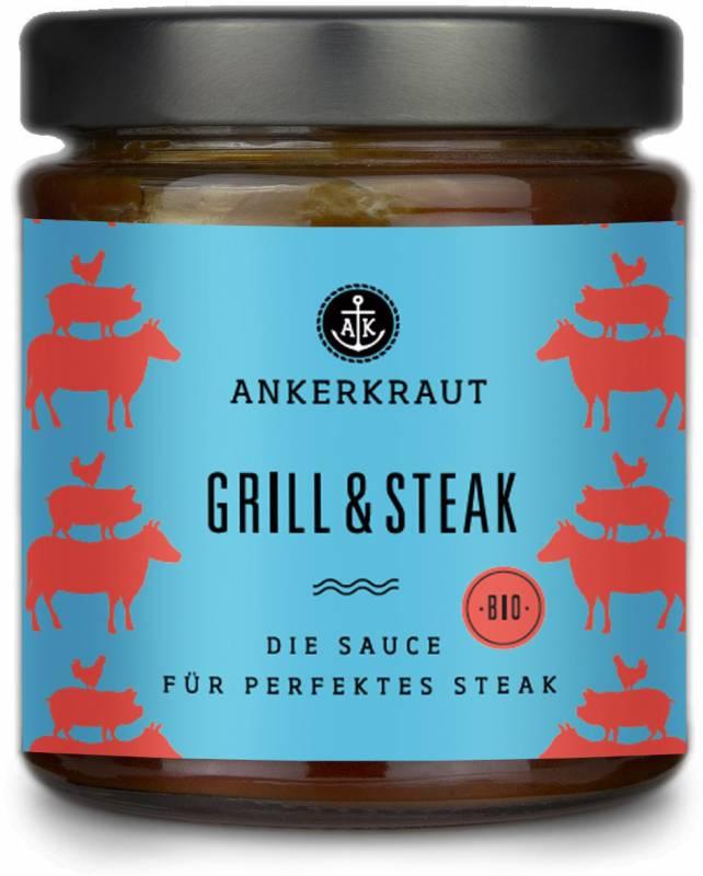 Ankerkraut #Saucenliebe - Grill & Steak Sauce - Die Sauce für perfektes Steak, 170 ml Glas