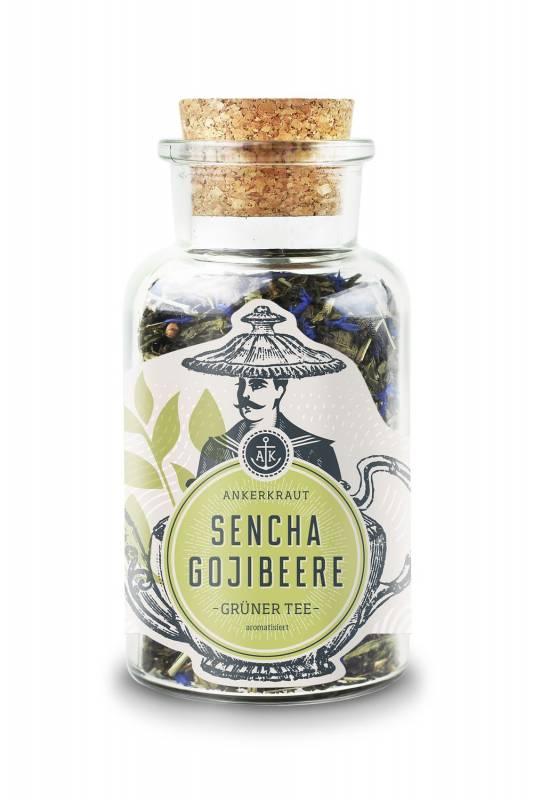 Ankerkraut Sencha Gojibeere, Grüntee, 70g Glas