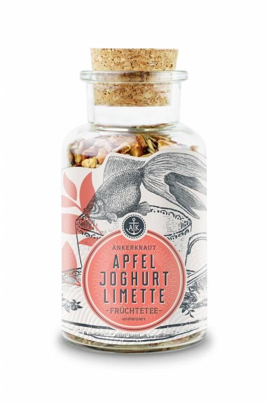 Ankerkraut Apfel-Joghurt-Limette, Früchtetee, 110g Glas