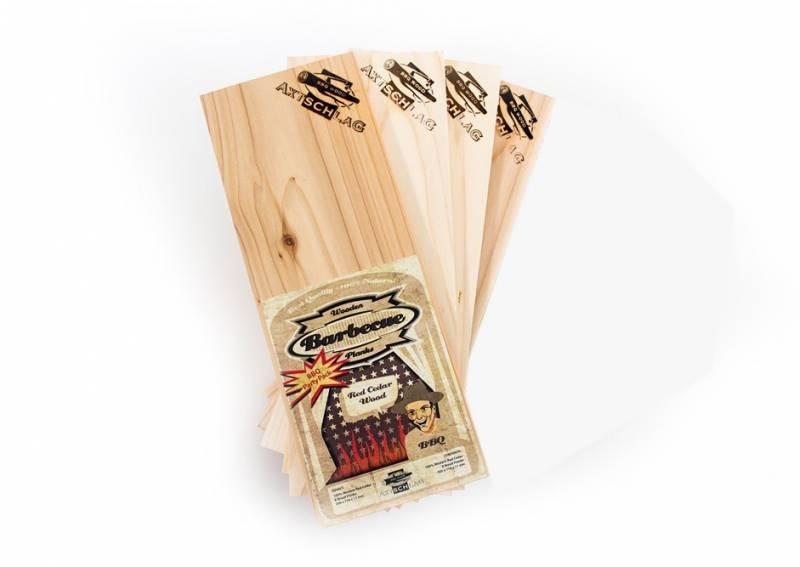 Axtschlag Räucherbretter (Wood Planks) 4er Pack Western Red Cedar - Rotzeder 30 x 11cm