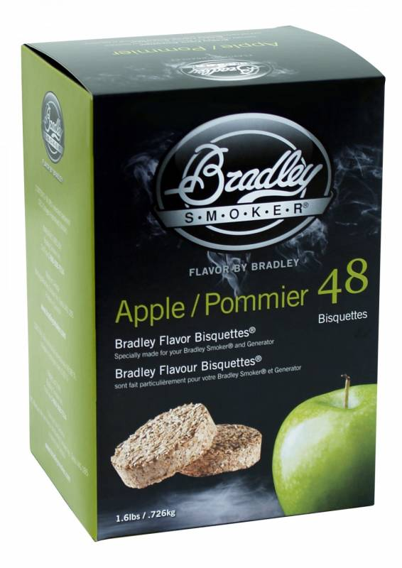 Bradley Smoker Apple / Apfel Bisquetten 48er Pack