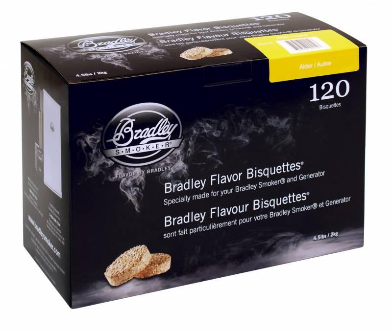 Bradley Smoker Alder / Erle Bisquetten 120er Pack