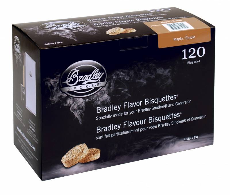 Bradley Smoker Maple / Ahorn Bisquetten 120er Pack