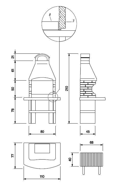 Palazzetti Grillkamin Brest Komplett Set