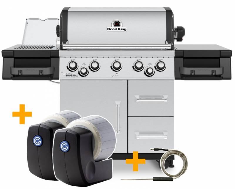 Broil King Imperial S590 PRO IR Gasgrill - SMART Deal inkl. Grillfürst Grill Control mit Companion Device und Einstichthermometer