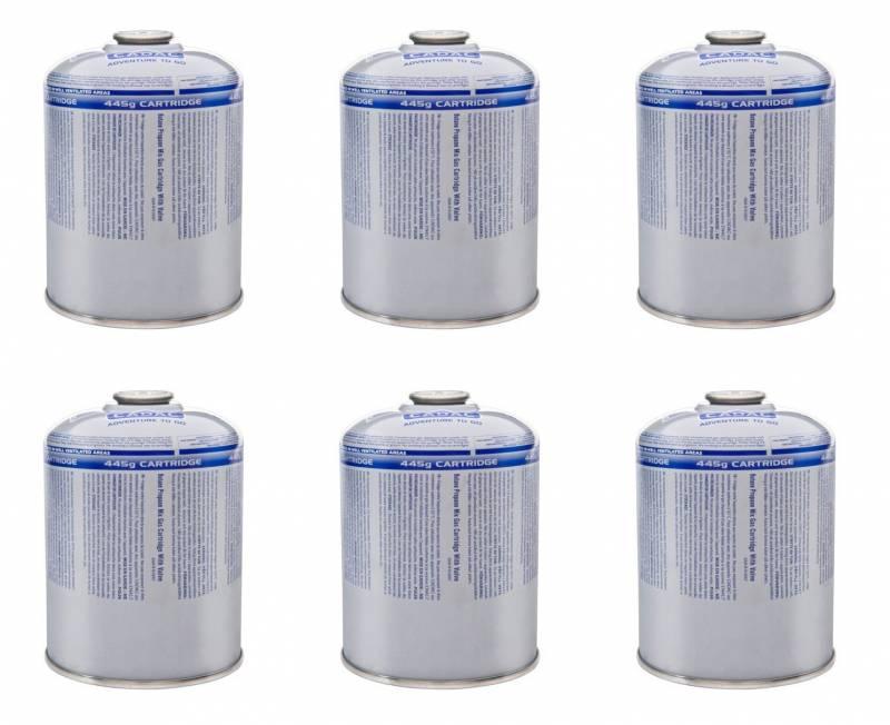 6er Set CADAC Gaskartusche 445g Butan-Propan / Alternative zur Weber Schraubkartusche